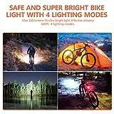 BurningSun Bike Light Set and Horn Solar Powered