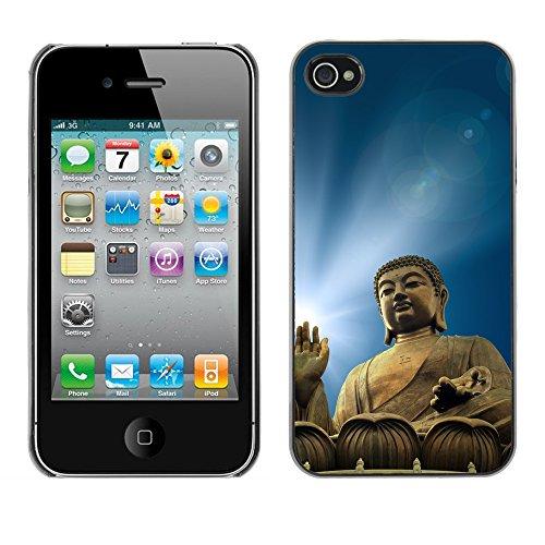Premio Sottile Slim Cassa Custodia Case Cover Shell // V00001628 buddha illumination // Apple iPhone 4 4S 4G
