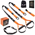 QonQuill BodyWeight Fitness Training Kit | Resistance Straps Trainer for Full Body Strength| Multiple Anchoring Solutions with Easy Setup for Home, Gym & Outdoor Workouts