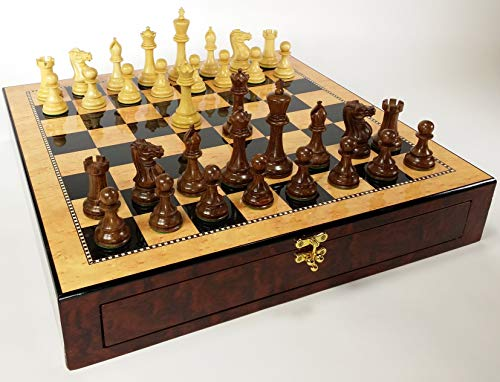 Double Queen Chess - Sheesham 4 5/8 inch King Double Queens Staunton Anderssen Chess Set with 20