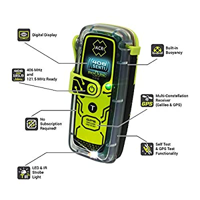ACR ResQLink View - Buoyant GPS Personal Locator Beacon (Model PLB-425): GPS & Navigation
