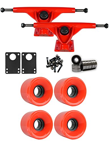 時代派手加速度RKPレッドLongboard Trucksホイールパッケージ59 mm x 43 mm 83 a 1788 Cレッド