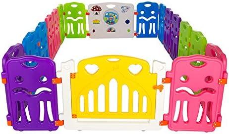 Parc pour bébé plastique Cannons UK avec petites panneaux de station de jeu (240cm 160cm)