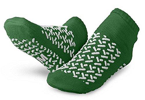 Sammons Preston Single-tread Slippers, Green - 48 Pair