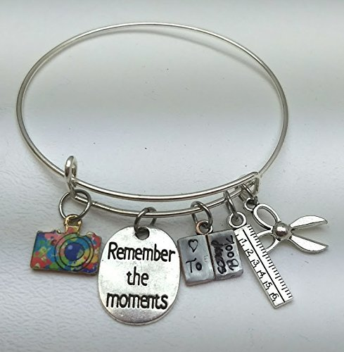 I Love to Scrapbook Bracelet, Gift , Gift for Her, Remember the Moments