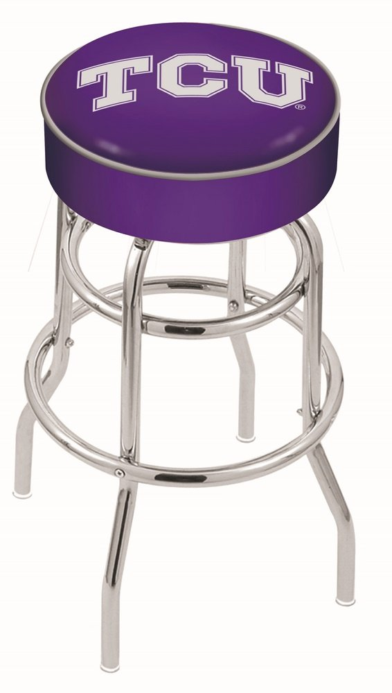 Holland Bar Stool L7C1 Texas Christian University Swivel Counter Stool, 25'' by Holland Bar Stool Co.