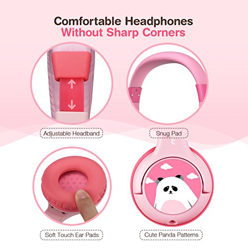 Mpow Kids Headphones with 85dB Volume Limited Hearing Protection & Music Sharing Function, Kids Friendly Safe Food Grade Material, Tangle-Free Cord, Wired On-Ear Headphones for Children Toddler Baby by Mpow (Image #3)'