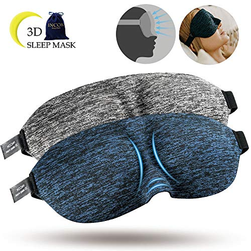 3D Sleep Eye Mask Eyeshade - Super Light Blocking Comfortabl