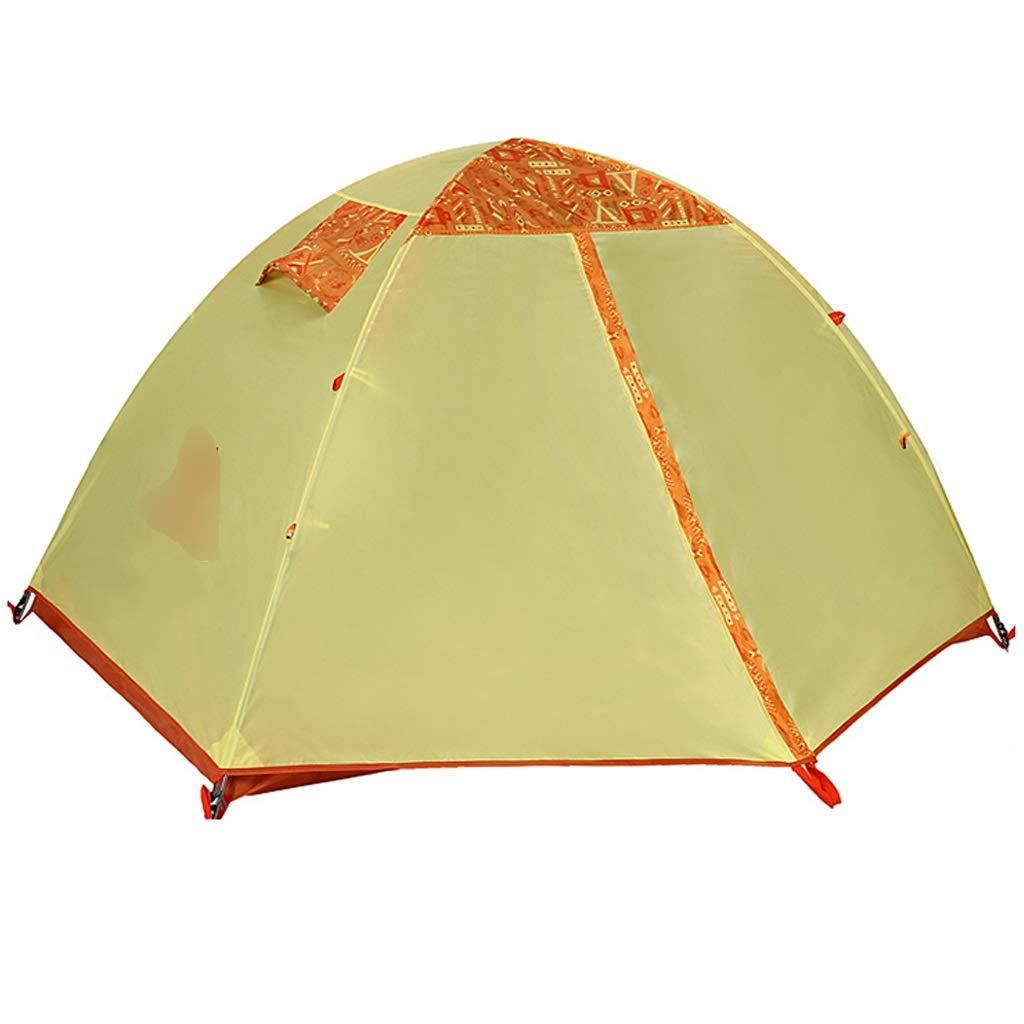 YaNanHome Im Freien Zelt des Zeltes im Freien Starkes regendichtes Zelt Vier Jahreszeiten, die Das Zelt mit 2 Personen kampieren, Das Doppelte Farbe wahlweise freigestellt ist