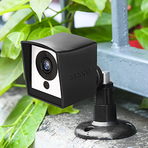 Frienda Camera Cover Compatible with Wyze Cam 1080p HD Camera and iSmart Alarm Spot Camera, Black Skin Cover with Security Wall Mount, Weather Resistant, Against Rain and Dust (No Include Camera)