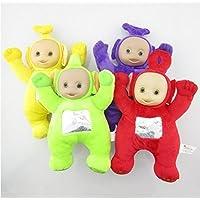 "Teletubbies Set of 4 Plush Soft Dolls 9"" Po, Dipsy, Laa Laa, and Tinky Winky"