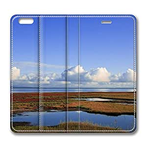 Lake 11 iPhone 6 Plus 5.5inch Leather Case, Personalized Protective Slim Fit Skin Cover For Iphone 6 Plus [Stand Feature] Flip Case Cover for New iPhone 6 Plus wangjiang maoyi