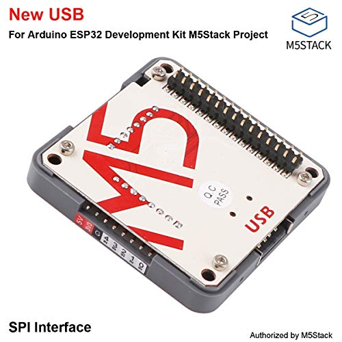 (M5Stack USB Driver Module, Integrated MAX3421E which Adds USB Host or Peripheral Capability to Any System with SPI Interface USB Peripheral/Host Controller for Arduino ESP32 M5Stack Project)
