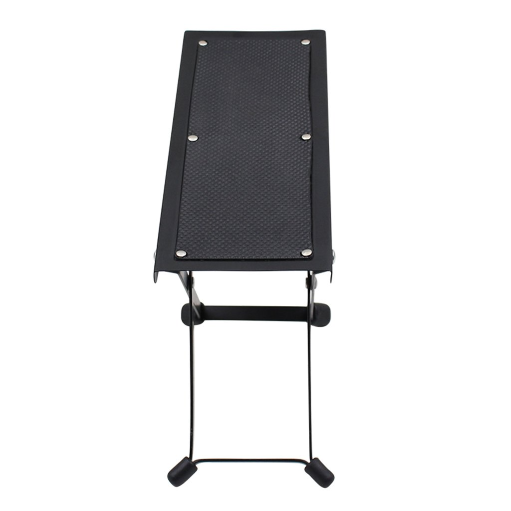 MagiDeal Adjustable Height Guitar Foot Rest Footstool Pedal for Guitar Practice Perform Black 10.15inch