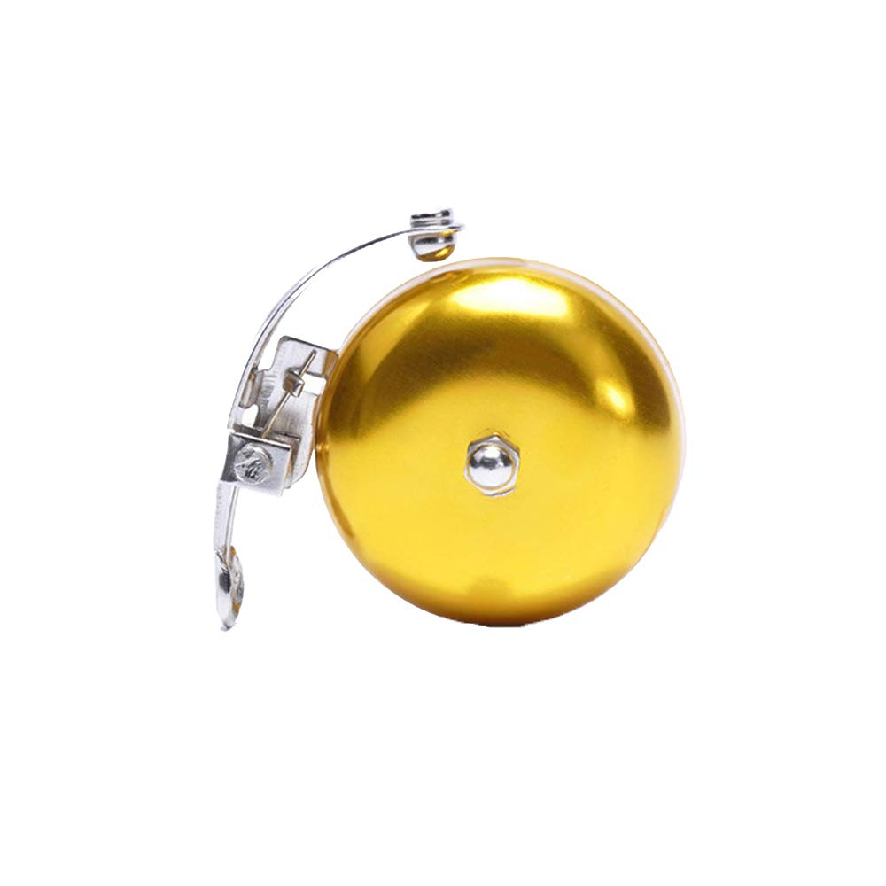 Potelin Bicycle Bell Retro Cycling Handlebar Bell Horn Safety Metal Ring Loud Sound with Steel Band Mount for Bike