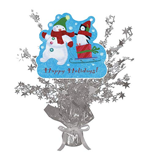 Snowman Penguin Holiday Centerpiece Silver Star (Each) by Partypro]()
