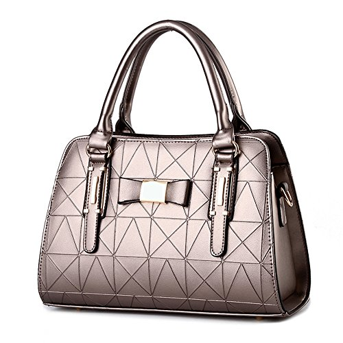 Bronze Fabric Handbags (XIN BARLEY Fashion Pu Leather Shoulder Bag Sexy Handbag for Women Bronze)