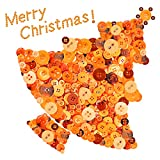 Swpeet 1000Pcs Christmas Orange Craft Buttons, 2 and 4 Holes Orange Round Craft Resin Sewing Buttons Suitable for Christmas Sewing Decorations, Art & Crafts Projects DIY Decoration - Orange