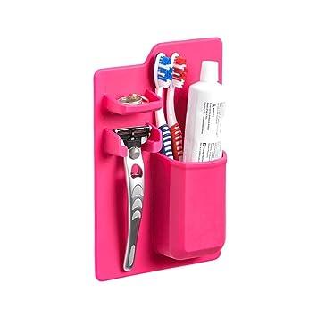 Wildlead Soporte para cepillo de dientes de silicona para ...
