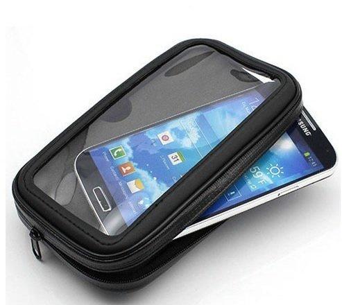 K-S-Trade Fahrrad Halterung f/ür Samsung Galaxy S4 Mini Duos Handyhalterung Halter Lenkstange Fahrradhalterung Motorrad Bike Mount Wasserabweisend regensicher schwarz 1x