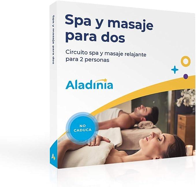 ALADINIA Box Caja Regalo Pack SPA y Masaje para Dos con Validez ...