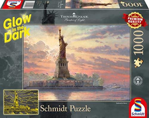 Schmidt Spiele 59498 Puzzleil Crepuscolo Di Thomas Kinkade 1000 Pezzi Multicolore