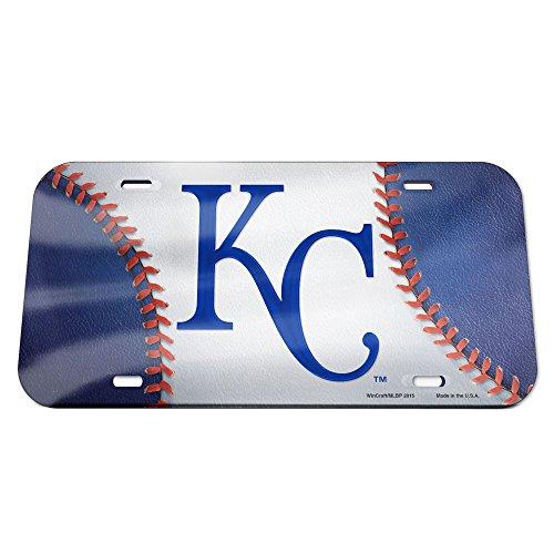 icense Plate - Crystal Mirror - Baseball - Licensed MLB Gift - Kansas City Royals Collectible (Kansas Crystal)