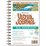 """Strathmore 400 Series Visual Watercolor Journal, 90 LB 5.5""""x8"""" Cold Press, Wire Bound, 34 Sheets"""