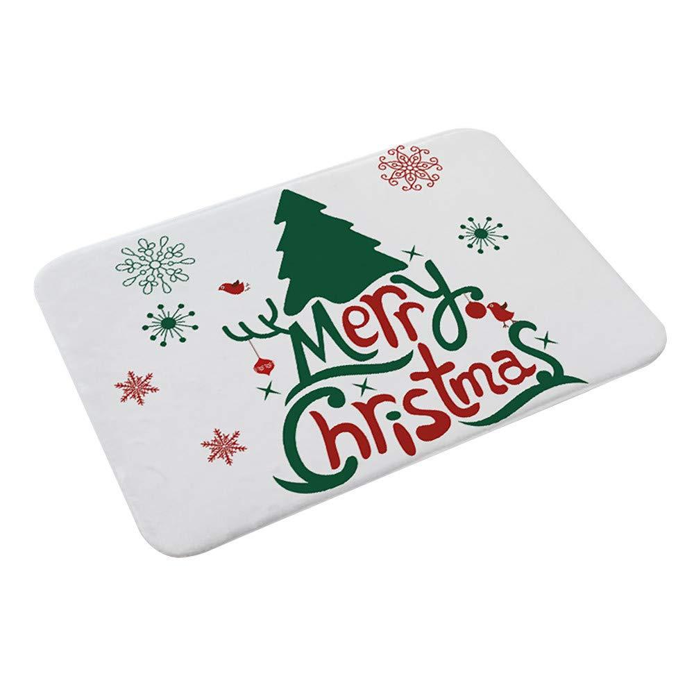 Tuu 1 PCS Christmas StepBasic Non-Slip Stair Carpet Floor Entrance Door Bathroom Mat (D)