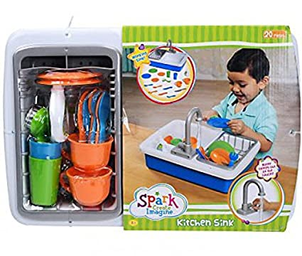 Amazon.com Spark Kitchen SinkBlue15.8 x 14.8 x 5.8 inches Toys u0026 Games  sc 1 st  Amazon.com & Amazon.com: Spark Kitchen SinkBlue15.8 x 14.8 x 5.8 inches: Toys ...