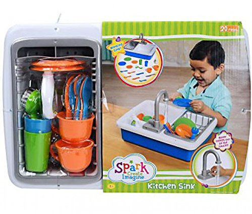 Amazon.com: Spark Kitchen Sink,Blue,15.8 x 14.8 x 5.8 inches: Toys ...