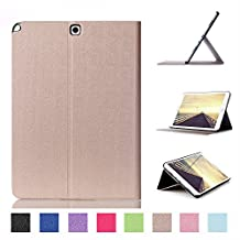 Tsmine Samsung Galaxy Tab A Plus 9.7 Origami Slim Case - Folding Premium PU Leather Case Magnetic Cover [Auto WakeUp / Sleep] Stand For Samsung Galaxy Tab A 9.7 SM-P550 P555 Tablet, Gold