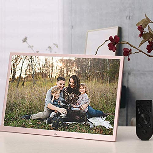 Mengen88 17-Inch Digital HD Picture Frame,Advertising Media Player with A High Definition High Resolution LCD Screen 1080P HD Video Playback Auto On//Off Timer