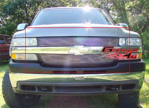 APS Fits 01-02 Chevy Silverado 2500/3500 HD Main Upper Billet Grille Insert #C65702A (Hd Grille Silverado Billet 2500)