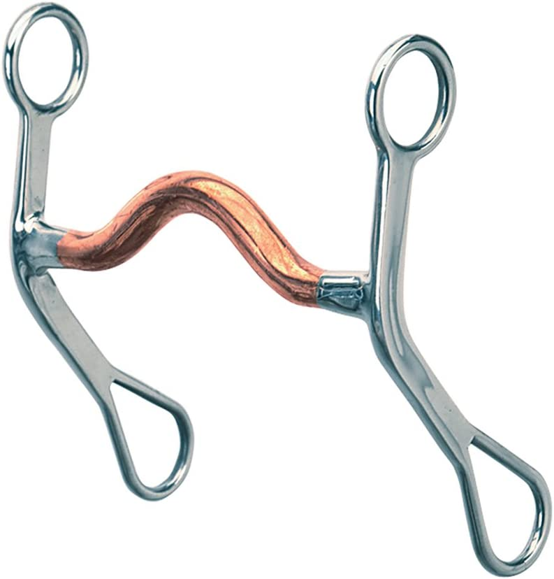 Weaver Leather Tom Thumb Snaffle Horse Bit 5 Inch Roller Mouth Stainless Steel U