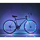 Automotive : Soondar GEC0041 Multicolored 20-LED Bicycle Bike Rim Lights