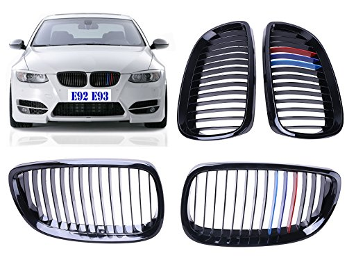 Price comparison product image General Mega High Gloss Black + M-color Grille Grill For BMW 2007-2010 E92 E93 328i 335i 2DOOR