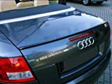 Deltalip Custom Painted Rear Trunk Boot Lip Spoiler For Audi TT 8J 2006~2013 Coupe Convertible LY9B/A2-Brilliant Black Round-End Type