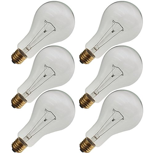 Industrial Performance 300PS25/CL 130V, 300 Watt, PS25, Medium Screw (E26) Base Light Bulb (6 Bulbs)