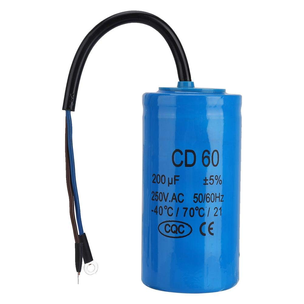 Resistente al Calore e anti-Esplosione,per lavviamento di Motori CA con Frequenza di 50 Hz 60 Hz Leggero DC 60 200uf Condensatore,/È di Piccole Dimensioni
