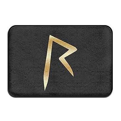 VDSEHT Rihanna Gold Logo Non-slip Doormat