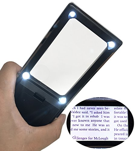 Ultra Bright & Lightweight Handheld Magnifier with 4x Bifoca