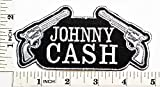 Johnny Cash Patch Heavy Metal Rock N Roll Punk Band Logo Music Patch Sew Iron on Embroidered Badge Sign Costume