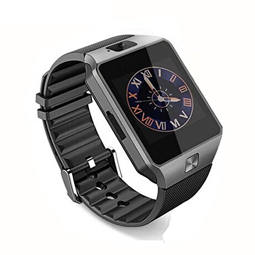 f04743a6c ANDROSET Universal Bluetooth Smartwatch for Android IOS Touch Screen Smart  Phone Mate - Black