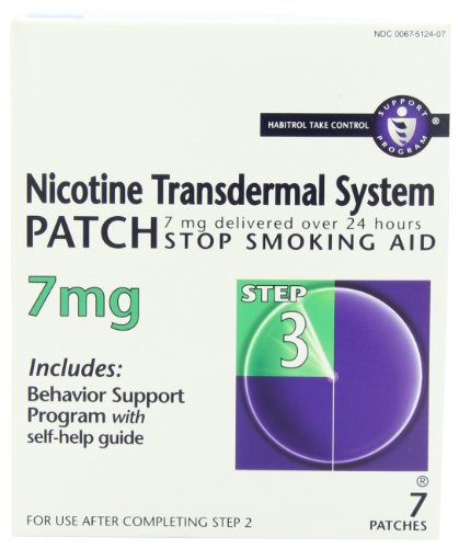 Habitrol Nicotine Transdermal System Step 3 7 Mg Stop Smoking Aid, 7-Count