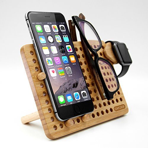 Mounts Stands LEAPCOVER Bamboo Multifunction DIY Storage Rack - Muti-Angle  Universal Mobile Phone