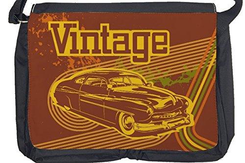 Borsa Tracolla Nostalgico Retrò Auto Vintage Stampato
