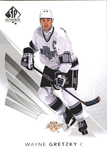 (2017-18 SP Authentic #99 Wayne Gretzky Los Angeles Kings NHL Upper Deck Hockey Card)