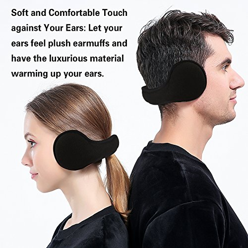 Mysuntown-Ear-Muffs-Foldable-Winter-Ear-Warmers-Fleece-Earmuffs-Earlap-Ear-Protection-Black-