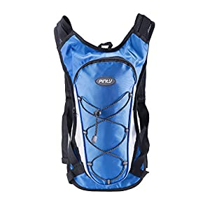 Pinty Hydration Backpack Pack with 2L Water Bladder for One Day Outdoor Climbing, Hiking, Cycling